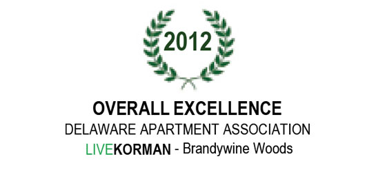 Delaware Apartment Association Overall Excellence Award 2012