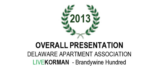 Delaware Apartment Association Overall Presentation Award 2013