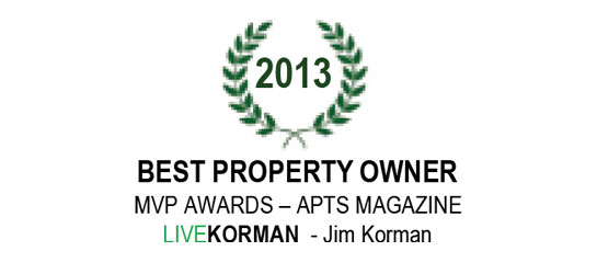 Apts Magazine MVP Awards Best Property Owner 2013