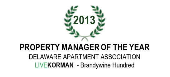 Delaware Apartment Association Property Manager of the Year Award 2013