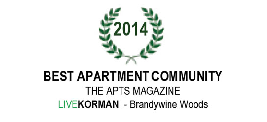 The APTS Magazine Best Apartment Community Award 2014