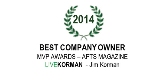 APTS Magazine MVP Awards Best Company Owner 2014