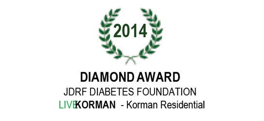 JDRF Diabetes Foundation Diamond Award 2014