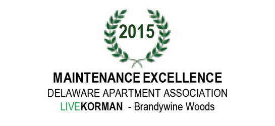 Delaware Apartment Association Maintenance Excellence Award 2015