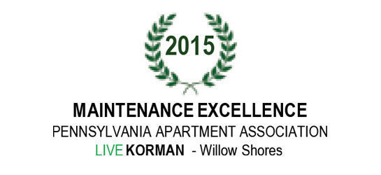 Pennsylvania Apartment Association Maintenance Excellence Award 2015
