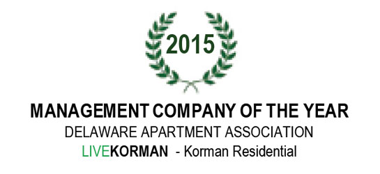 Delaware Apartment Association Management Company of the Year 2015
