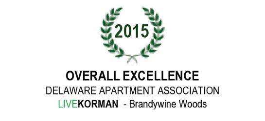 Delaware Apartment Association Overall Excellence Award 2015