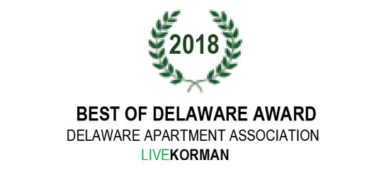 Delaware Apartment Association Best of Delaware Award 2018
