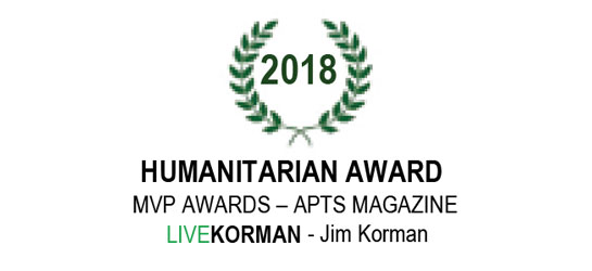 APTS Magazine MVP Awards Humanitarian Award 2018