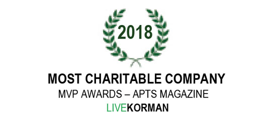 APTS Magazine MVP Awards Most Charitable Company 2018