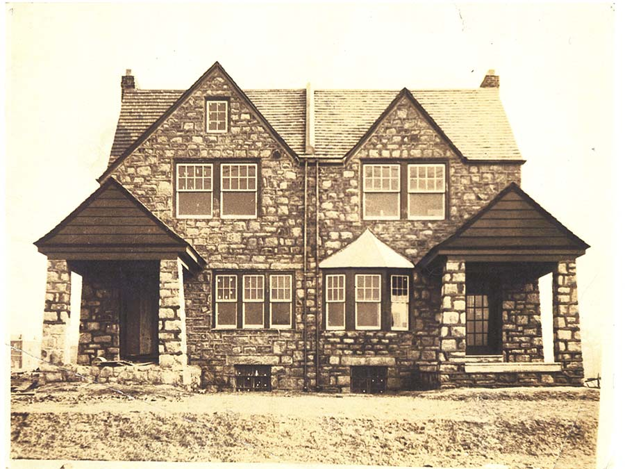 Vintage photo of a home